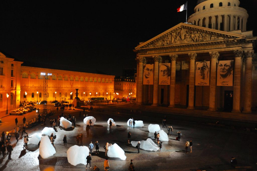 Ice Watch, Place du Pantheon, Parijs, december 2015 | www.artists4climate.com